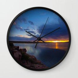 Bluewater Lake Sunset Wall Clock
