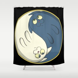 Cats ying yang with chi Shower Curtain