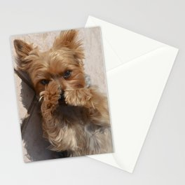 Put Em' Up - The Yorkie Dog Stationery Cards