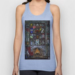 Creepy Cabinet of Curiosities Unisex Tank Top