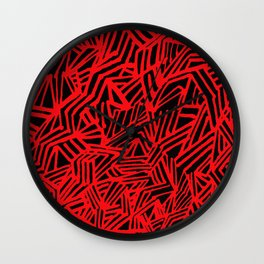 Redline (Black version) Wall Clock