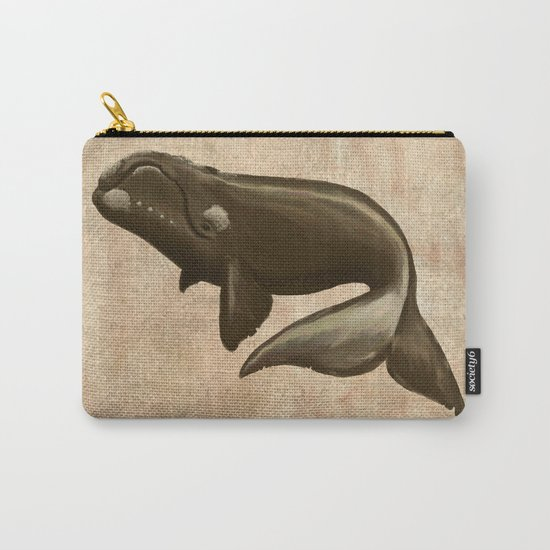 North Atlantic Right Whale, Digital Illustration by Amber Marine (c) 2015 Carry-All Pouch