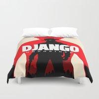 django Duvet Covers featuring Django Unchained Poster by Soren Barton