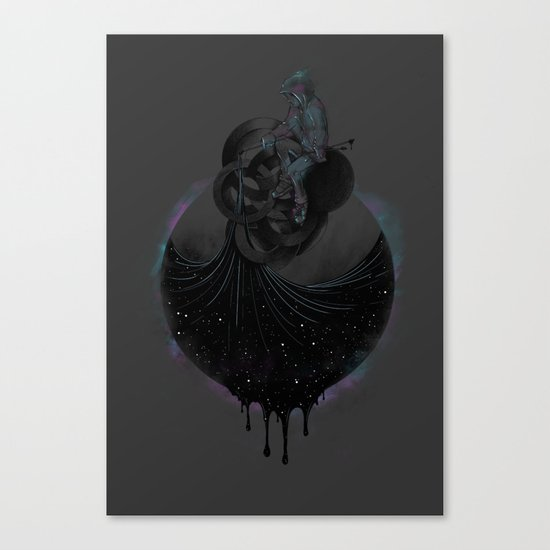 Paint the Black Hole Blacker Canvas Print