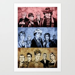 Doctor Who - Three Colours Who Art Print