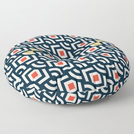 Round Pegs Square Pegs Navy Blue Floor Pillow