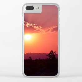 Desert Sunset Silhouettes Clear iPhone Case