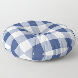Navy Gingham Pattern Floor Pillow