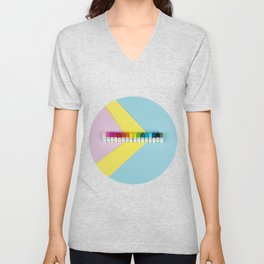 Happy little rainbow pills Unisex V-Neck
