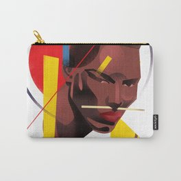 Famous people in a bauhaus style - Grace Jones Carry-All Pouch