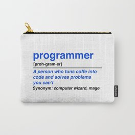 programmer definition Carry-All Pouch