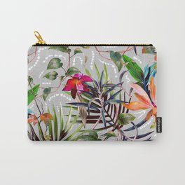 Wild Succulent Flowering Carry-All Pouch