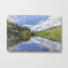 Llyn Mymbyr and Snowdon Metal Print