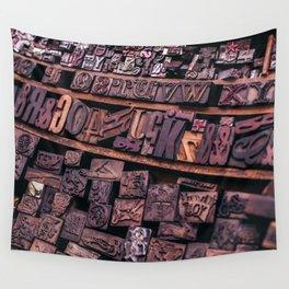 Wood Letterpress Wall Tapestry