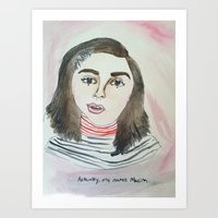 feminism Art Prints featuring FEMINISM by Fin Bunting