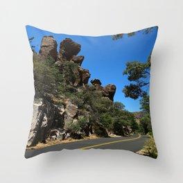 Scenic Bonita Canyon Road Throw Pillow