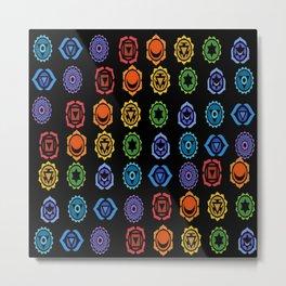 SEVEN CHAKRA SYMBOLS OF HEALING ART #3 Metal Print