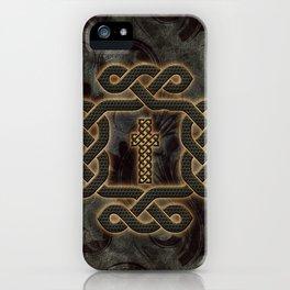 Decorative celtic knot, vintage design iPhone Case