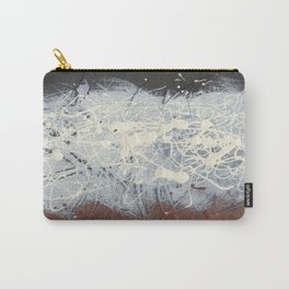 Cool Pollock Rothko Inspired Black White Red Abstract - Modern Art Carry-All Pouch