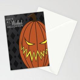 Wicked Halloween Jack-o-Latern Stationery Cards