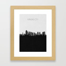City Skylines: Kansas City (Alternative) Framed Art Print