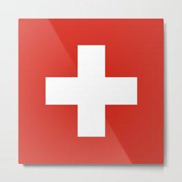 Switzerland Flag Swiss Patriotic Metal Print