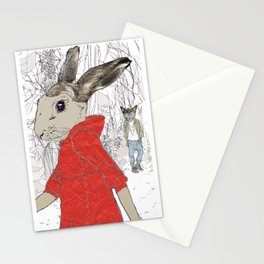 A Wolf met her 2 Stationery Cards
