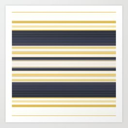 Nautical Stripes Pattern Art Print
