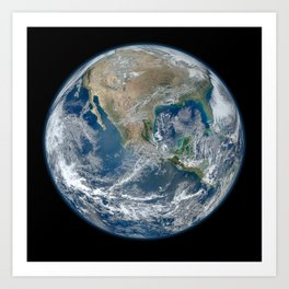 The Blue Marble Art Print