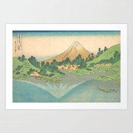 Reflection in Lake at Misaka in Kai Province, Thirty-six Views of Mount Fuji by Katsushika Hokusai Art Print