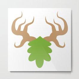 Cenarion - Simple Symbol Metal Print