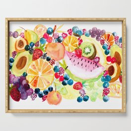 Cheerful Fruit Salad Serving Tray