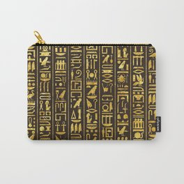 Gilded Hieroglyphs Carry-All Pouch