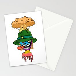 Crazy Boom Head Stationery Cards