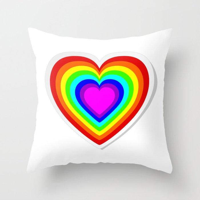 Lbgt Rainbow Heart Throw Pillow By Pixxart Society6