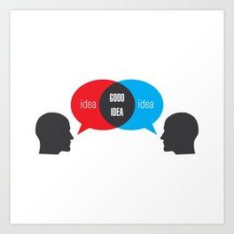 Idea+Idea=Good Idea Art Print