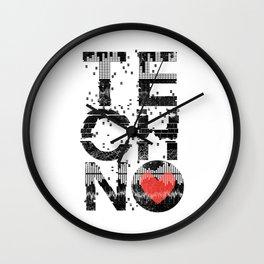 Love Techno Music Wall Clock