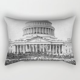 Teddy Roosevelt Inauguration - U.S. Capitol - 1905 Rectangular Pillow