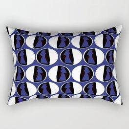 Dots Cardin Blue Rectangular Pillow