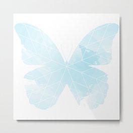 Starblanket Series: Blue Butterfly Wash Metal Print