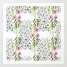 Floral pattern 3 Art Print