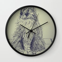 Icelandic Cat Wall Clock