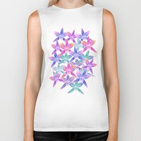 hawaiian Biker Tanks featuring Hawaiian flowers by Marta Olga Klara