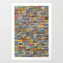 Greetings From Postcards Art Print