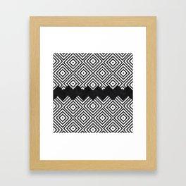 Black and White Tiles Framed Art Print