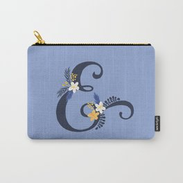 Purple ampersand floral throw pillow Carry-All Pouch