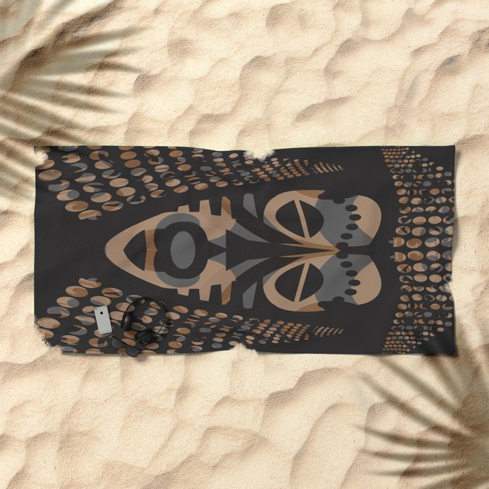 African Tribal Mask No. 1 Beach Towel