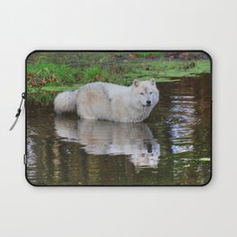 Wolf Reflection Laptop Sleeve