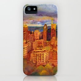Montreal from Mont Royal during Sunset iPhone Case