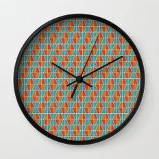 Tile Pattern 2 Wall Clock